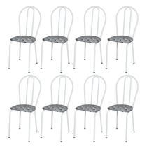 Kit 8 Cadeiras 004 Branco/Capitonê - Artefamol -