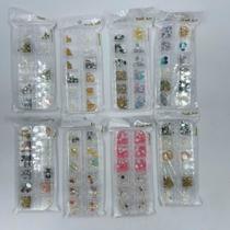 Kit 8 Caixinhas Adesivos para Unhas Artificiais Sortidos - Nail Art