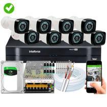 KIT 8 Câmeras de segurança Dvr 8 Canais Intelbras MHDX 1108 - DUO