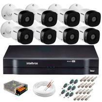 Kit 8 Câmeras de Segurança HD 720p 10m Infravermelho VHD 1010 B G5 + DVR Intelbras -