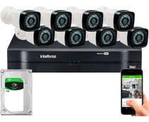 Kit 8 Câmeras De Segurança Residencial Dvr Intelbras 1108 Full Hd c/ hd 1TB -