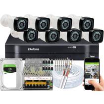Kit 8 Cameras Segurança Dvr Intelbras Full Hd 8ch 1108 c/hd - Intelbras e FullSec