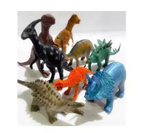 Kit 8 Dinossauro Animais Selvagens Borracha Brinquedos Novo - Emporio Magazine