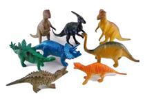 Kit 8 Dinossauro De Borracha Miniatura Brinquedo Jurassic - Art Toys