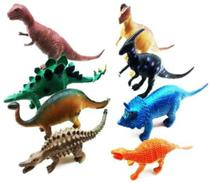 Kit 8 Dinossauro De Borracha Miniatura Brinquedo Jurassic - Ausini -