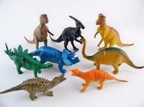 Kit 8 Dinossauro De Borracha Miniatura Brinquedo Jurassic - Dm Toys