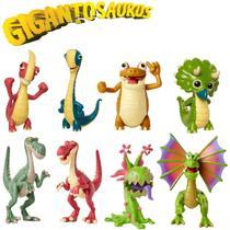 Kit 8 Figura De Ação Dinossauro Gigantossauro - Mimo Toys -