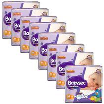 Kit 8 Fraldas BabySec GALINHA PINTADINHA Premium - M - 144 unids - Softys