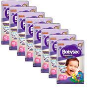 Kit 8 Fraldas BabySec GALINHA PINTADINHA Premium - XG - 96 unids - Softys