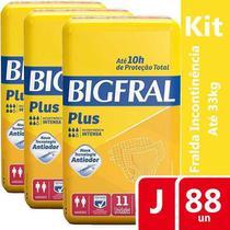 KIT 8 FRALDAS GERIATRICA BIGFRAL PLUS JUVENIL - 11 unidades -