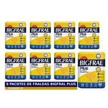 KIT 8 FRALDAS GERIATRICA BIGFRAL PLUS M / 9 = 72 un -