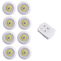 Kit 8 Lampadas Luminaria Led Teto Controle Remoto  Sem Fio Spot 15w Cozinha Casa - Economia Solar