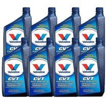Kit 8 oleo cambio transmissao automatica valvoline cvt fluido sintetico 946 ml cada - kit00334 -