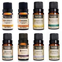 Kit 8 Óleos Essenciais Naturais Clássicos 100% Puros Via Aroma 10ml - Escolha seu kit -