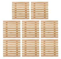 Kit 8 Peças Descanso De Panela Bambu Quadrado 17cm Yazi - Yangzi