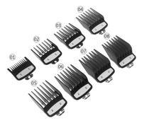 Kit 8 Pentes Metal Preto Para Máquina De Corte Cabelo - Lux Hair