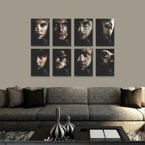 Kit 8 Placas Decorativas Harry Potter - Arte Quadro