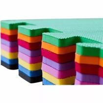 Kit 8 Placas Tatame Tapete Eva 50x50X1cm Colorido - Linha Econômica - Biatex