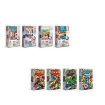 Kit 8 QC Nano 500 Pçs - Postais da Europa e Marvel Comics - Toyster