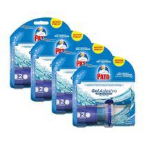 Kit 8 Refil Detergente Pato Gel Adesivo Marine 12,7g + Aplicador -