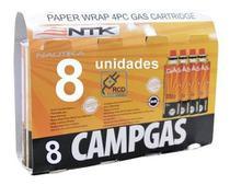 Kit 8 Unidades De Refil Campgás Original Nautika - Ntk -