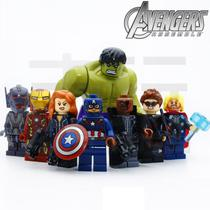 Kit 8 Vingadores Marvel Avengers Big Hulk Compatível Lego - Xinh