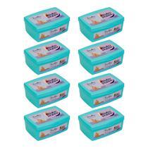 kit 8x100 toalhas lenços umedecidos baby poppy super premium mais encorpada pote (total 800 toalhas) -