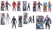 Kit 9 Bonecos Vingadores Avengers Marvel Titan Hero - Hasbro -