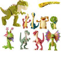 Kit 9 Figura De Ação Dinossauro Gigantossauro - Mimo Toys -