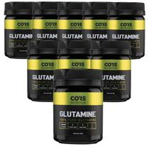 Kit 9x Glutamine 100% Pure 100g - Core Nutrition -
