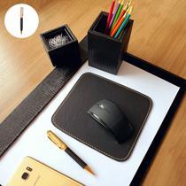 Kit a3 premium de mesa risque rabisque escritório - preto - Apparatos
