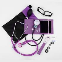Kit acadêmico de enfermagem c/ Medidor de Pressão e estetoscópio rappaport - P.a. med - P.A.Med