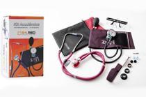 Kit Acadêmico Esfigmomanometro + Estetoscopio Duplo Oculos Garrote PAMED Vinho -
