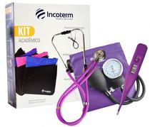 Kit Acadêmico Lilás com Bolsa Incoterm -