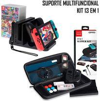Kit Acessórios 13 Em 1 Nintendo Switch + Suporte Carregador Multifuncional - Oivo Dobe