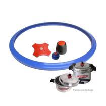 Kit Acessórios Panela de Pressão 12 - 15 - 20 Litros Fulgor - Borracha (FE) Válvulas Peso Aliviador -