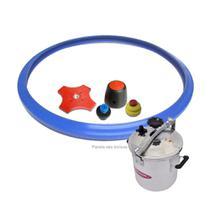 Kit Acessórios Panela de Pressão Express 25 - 30 - 35 Litros Fulgor - Borracha (FE) Válvula Peso Aliviador -