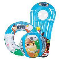 Kit acessorios para piscina boia + bola + colchao infláveis jilong - Mor