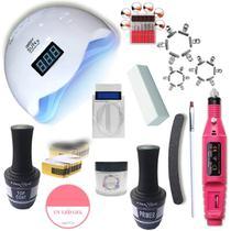 Kit Acrigel + Kit Unha em Gel + Presilhas + Cabine Led Uv - Casa Da Compra
