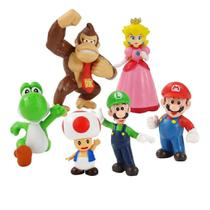Kit Action Figure Mario Bross Kit 6 Bonecos - Super Mario Bross