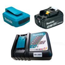 Kit Adaptador Compacto + Bateria Íons de Lítio + Carregador de Bateria - Makita -