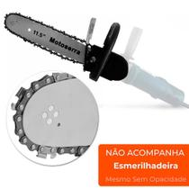 Kit Adaptador De Serra Elétrica Motosserra Moto Serra para Esmerilhadeira Lixadeira Importway - Siga Tools