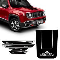 Kit Adesivo Capô Jeep Renegade Montanha + Soleira Protetora - SPORTINOX