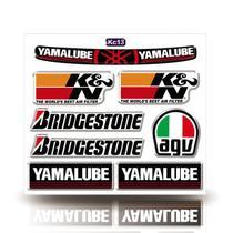 Kit Adesivo Decorativo Capacete Resinado 3D, Yamalube, Agv, Bridgestone, Carro Moto GP - Cobra Motoparts