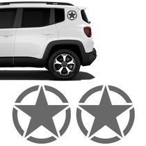Kit Adesivo Estrela Militar Jeep Renegade Lateral Decorativo - Sportinox