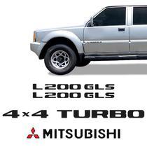 Kit Adesivo L200 Gls 4x4 Turbo 2001/2002 Emblema Mitsubishi - Sportinox