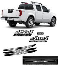 Kit Adesivos 4x4 Off Road Frontier 6m/t + Soleira Black Over - Sportinox