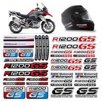 Kit Adesivos Capacete Bmw R1200 GS Moto Refletivo Resinado - Sportinox