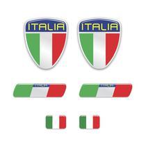 Kit Adesivos Emblema Escudo Placa Coluna Itália Resinados - SPORTINOX