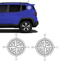 Kit Adesivos Jeep Renegade Bússola Rosa Dos Ventos Lateral - Sportinox